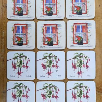 12 Irish Art Coasters by Pat Flavell
