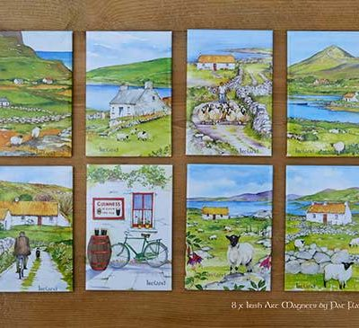 Ireland Art magnets by Irish artist Pat Flavell