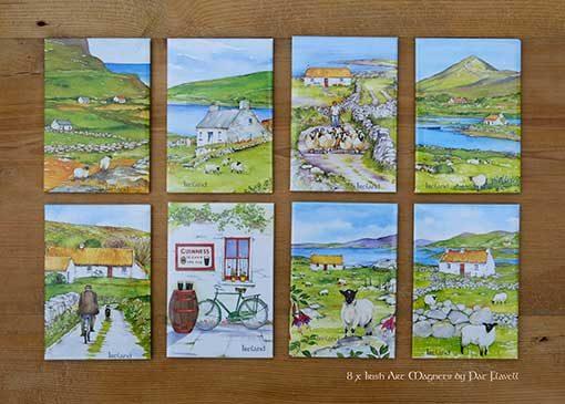 Ireland Art magnets by Irish artist Pat Flavell