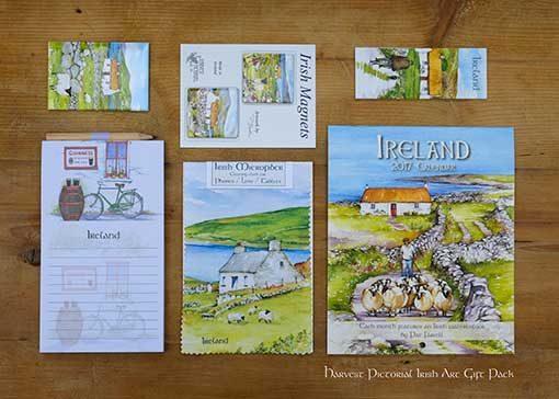 Ireland Art Gift pack by Irish artist Pat Flavell