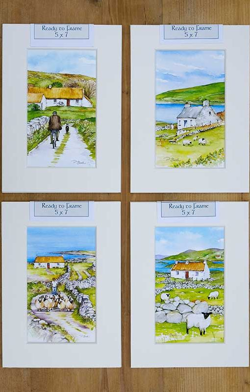 Irish Art Ready to Frame Prints by Pat Flavell
